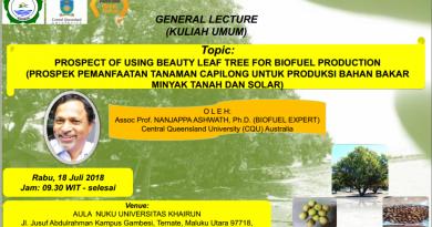 Kuliah Umum Prospek Pemanfaatan Tanaman Capilong untuk Produksi Bahan Bakar Minyak tanah dan Solar